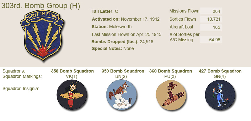 303rd Bomb Group and Unit Insignias