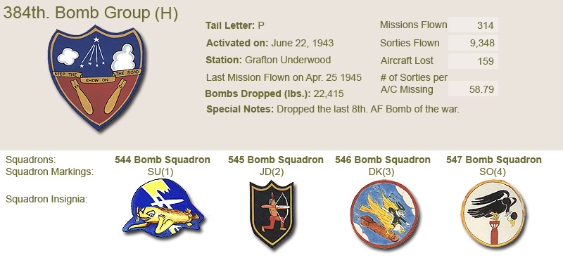 384th Bomb Group and Unit Insignias