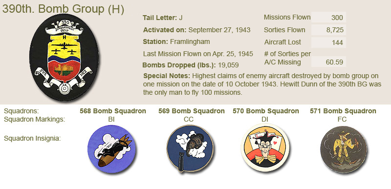 390th Bomb Group and Unit Insignias