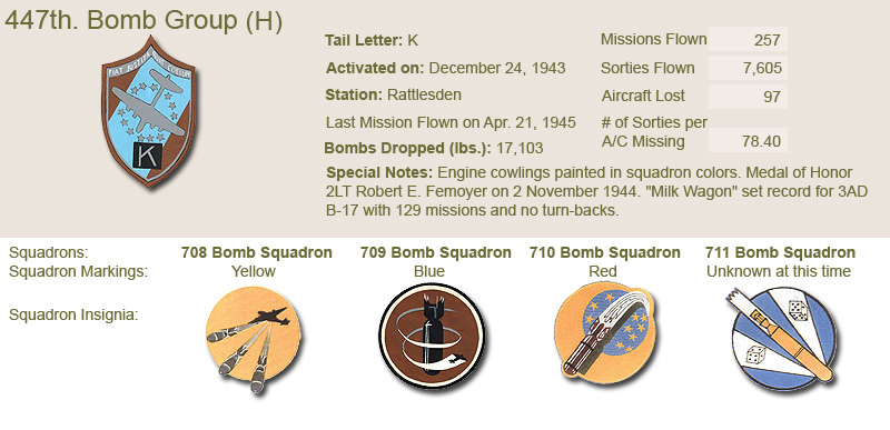 447th Bomb Group and Unit Insignias