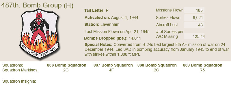 487th Bomb Group and Unit Insignias
