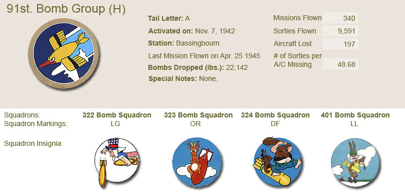 91st Bomb Group and Unit Insignias